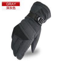 加厚加绒骑行滑雪手套保暖手套男士防风防滑机车手套