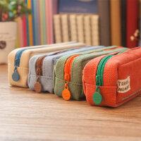 广博中小学生笔袋时尚简约铅笔袋盒笔包男女用大容量可爱文具盒