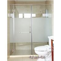 定做淋浴房拉门钢化玻璃浴室屏风一字形浴室移门卫生间隔断