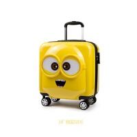 儿童拉杆箱小黄人行李箱万向轮3D旅行箱男女宝宝18寸20寸拖箱登机 黄色