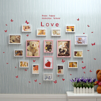 相片墙相框创意组合 墙贴 结婚礼物创意卧室心形照片墙墙贴韩式欧式组合相片墙/挂墙相框墙