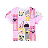 【2件5.5折价:65】小猪班纳女童圆领T恤短袖春夏儿童卡通上衣纯棉