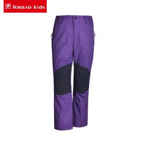 探路者童装 秋冬女童户外三合一套绒冲锋裤儿童户外裤防水