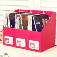 韩国DIY纯色收纳盒 糖果色 桌面收纳盒桌面整理盒 大号文件收纳盒书桌置物架创意文具办公整理盒