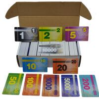 筹码币 麻将机塑料加厚德州扑克牌筹码卡百家乐方形PVC棋牌室棋牌社用券套装 50张 拍下留言要的面值和数量