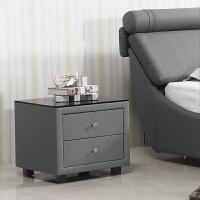 方形床头柜时尚收纳柜简约地柜现代北欧皮艺柜布艺床头柜 整装