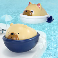 ����洗澡玩具��河斡境�蛩�小熊�和�1-3�q沐浴小孩男孩女孩玩水