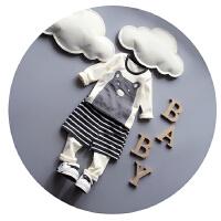 宝宝套装春秋男婴儿长袖套装男两件套小童1-2-3岁春装男童潮促销