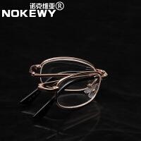 男女便携式可折叠款老花镜老视镜片老花眼镜金属镜架老年人眼镜