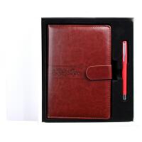 国俊众搏商务笔记本记事本礼盒套装金属水笔日记本活页本套装定制