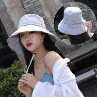 帽子女韩版潮百搭出游遮阳帽大沿遮脸日系渔夫帽女士