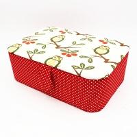 家用缝纫线收纳盒 空盒 布艺手收纳首饰针线十字绣收纳盒整理盒箱