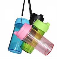 水杯简约随手杯冷水杯创意女学生运动水壶防漏随身便携颜色随机