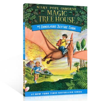 英文原版章节书 神奇树屋 1 Magic tree house #1:Dinosaurs Before Dark 恐龙谷历险记