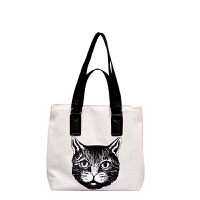 托特包女学生软皮帆布单肩包女大包大容量港风时尚个性猫头手提包
