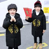 中大童10-15岁中国风韩版洋气男孩冬季潮唐装男童拜年服