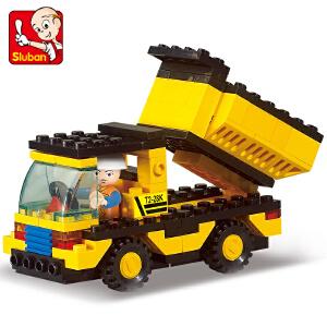 【当当自营】小鲁班模拟城市系列儿童益智拼装积木玩具 重型工程-自御车M38-B9500
