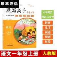 荣恒教育一年级语文上册人教版默写高手教材同步训练小学一年级语文书同步训练习题册一年级上册默写能手一年