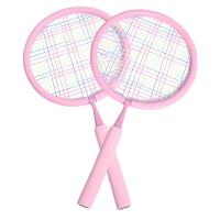 �和�羽毛球拍3-12�q小�W生����球拍幼��@小孩�H子�敉馇蝾�玩具Z 粉色�A拍(2-7�q) 送14只球一��球包