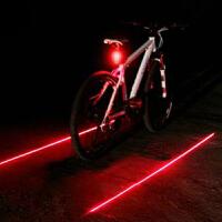 死飞自行车灶激光后尾灯 夜骑行装备平行线警示灯 山地车安尾灯新品