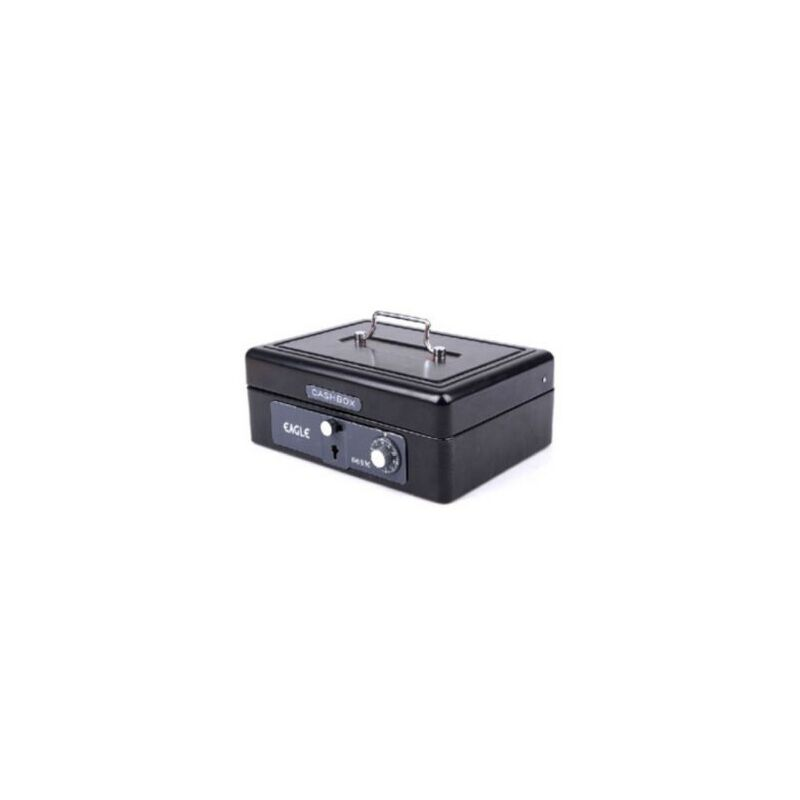 益而高668M中型金属手提金库 保险盒 密码箱零钱整理箱 印章箱 财务好帮手
