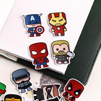 手账装饰贴纸可爱防水卡通动漫人物超人 复仇者联盟贴纸超级英雄