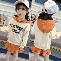 女童时尚套装小女孩卫衣短裙两件套宝宝衣服春装2018新款潮C919 O