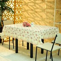 田园桌布布艺桌布台布餐桌布桌椅套桌椅垫 蕾丝餐桌布 茶几布圆形台布130*130CM
