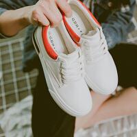 皮面厚底小白鞋内增高帆布鞋女韩版百搭学生板鞋韩国ulzzang