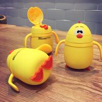 儿童水杯家用宝宝带吸管杯喝水杯子幼儿园婴儿防摔保温杯可爱卡通