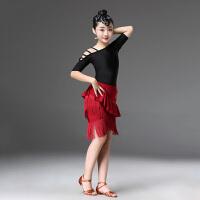 儿童拉丁舞裙演出服比赛舞蹈新款女孩流苏款春夏女童练功表演服装