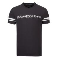 【折上1件5折 2件4折】361度男装运动t恤秋季圆领短袖T恤学生休闲运动上衣