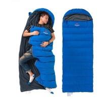 信封袋帽式羽绒睡袋 可拼接成人鸭绒户外保暖睡袋 超轻户外露营-15度白鹅绒睡袋