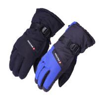 男士骑车加厚保暖棉手套 新款简约加绒防风透气手套 青年户外骑行滑雪手套