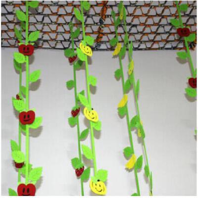 幼儿园教室装饰 水果树叶吊饰 幼儿园吊饰 学校商场墙面贴画贴纸 树叶