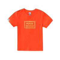 【2件5.5折到手价:43】小猪班纳童装男童短袖t恤纯棉2020夏季新款儿童圆领休闲条纹上衣