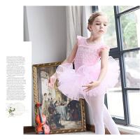 儿童舞蹈服装女童芭蕾舞裙幼儿演出服形体服练功服短袖