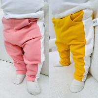 婴儿裤子春装0女童打底裤1岁3个月6宝宝休闲裤春季男童长裤