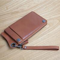 男士钱包卡包一体包女多卡位手包长款拉链青年手机包