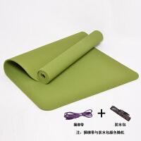 无味瑜伽垫香蕉纹防滑纹加长加宽加厚回弹快健身垫TPE瑜珈垫子 8mm(初学者)