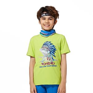 探路者童装TOREAD户外  夏装男童动物系列短袖T恤