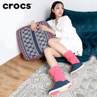 【限时秒杀】crocs卡骆驰 女士阿黛拉暖绒靴 暖平跟中筒靴保暖棉靴|15496 阿黛拉暖绒靴