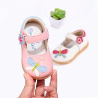 真牛皮鞋女童公主鞋1-3-5岁宝宝学步鞋软底小童单鞋儿童皮鞋