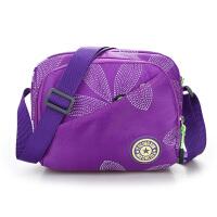 尼龙布女包单肩小包新款印花布包斜挎包休闲运动旅行小挎包便携包