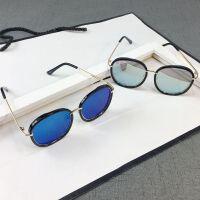 夏季儿童太阳镜小孩墨镜宝宝眼镜圆框金属蛤蟆镜男女童遮阳镜