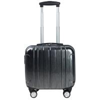18寸铝框迷你背包拉杆箱16寸潮流行李箱小型箱潮14寸男女士登机箱 黑色 拉链款