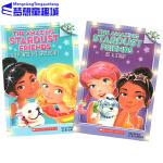 英文原版小说入门级 学乐大树系列桥梁书 Amazing Stardust Friends 2本套装 初级章节书 Sch