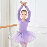 儿童舞蹈服练功服女童演出服长袖芭蕾舞裙幼儿春秋季蓬蓬裙纱裙