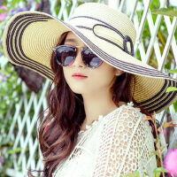 韩版出游海边大沿沙滩帽帽子女防晒遮阳帽防紫外线太阳帽