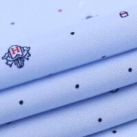 2018春季长袖衬衫男士中老年寸衫修身韩版印花大码商务休闲衬衣